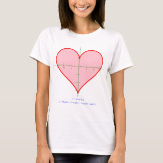 Women's heart equation shirt