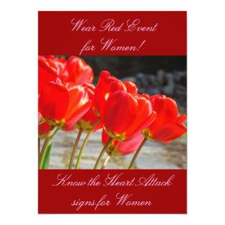 Women's Heart Health Event Invitations Wear RED