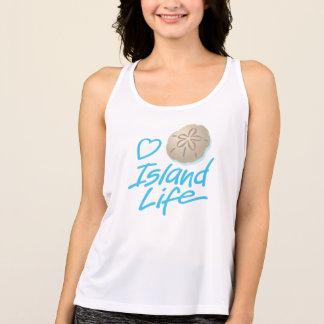 Women's Heart Island Life Tank Top and Sand Dollar
