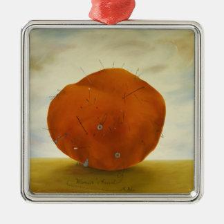 Women's Heart Metal Ornament