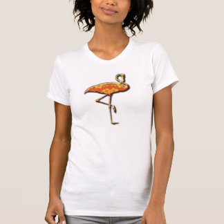 Womens hibiscus flamingo shirt design