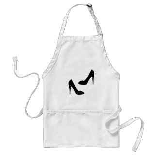 Womens High Heel Shoes in Silhouette Adult Apron