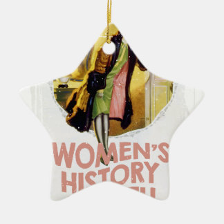 Women's History Month - Appreciation Day Ceramic Ornament