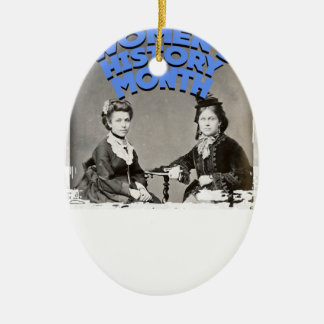 Women's History Month Ceramic Ornament