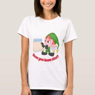 Women's Holiday Cartoon Elf T-Shirt
