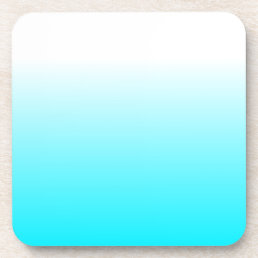 Women's Home Decor Trendy Cool Aqua Blue Ombre Drink Coaster