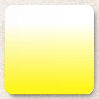 Women's Home Decor Trendy Yellow Ombre Coaster