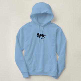Women's hooded sweatshirt playful black lab