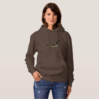 Women's  Hooded Sweatshirt w/ canadian goose & jay