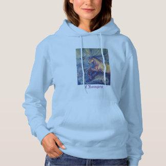 Women's hooded sweatshirt with a fine art print