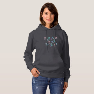 Women's hooded sweatshirt with jellyfishes