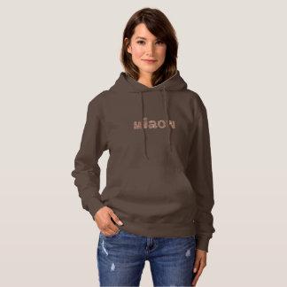Women's hooded sweatshirt with 'miaow'
