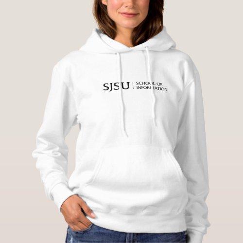 Womens Hoodie _ Black iSchool Logo