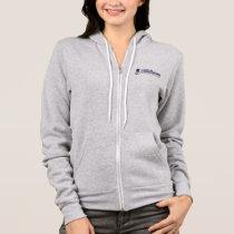 Women's Hoodie - Grey w Color Logo