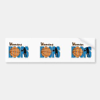 womens hoops basketball design bumper sticker