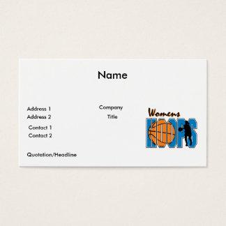 womens hoops basketball design business card