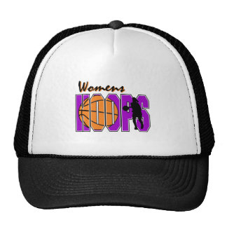 womens hoops purple basketball design trucker hat