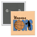 Women's Hoops T-shirts and Gifts Button