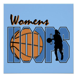 Women's Hoops T-shirts and Gifts Print