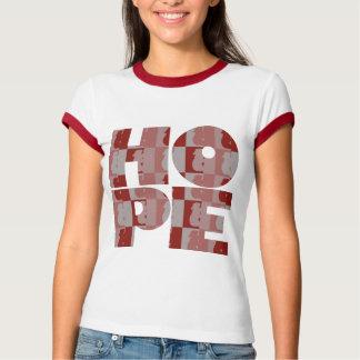 Women's HOPE Red Ringer Tee