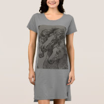 Women's Horse Lover Apparel T-Shirt Dress