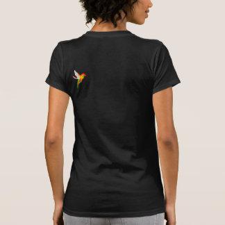 Women's Humming Bird Back Tattoo Shirt