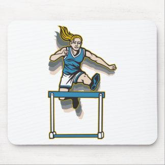 Women's Hurdles Mouse Pad