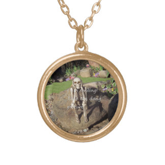 Womens /I am smiling. Take the dang picture. Personalised Necklace
