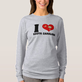 Women's *I Heart SC* Long Sleeve T-Shirt