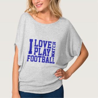 Women's I Love Football Shirt