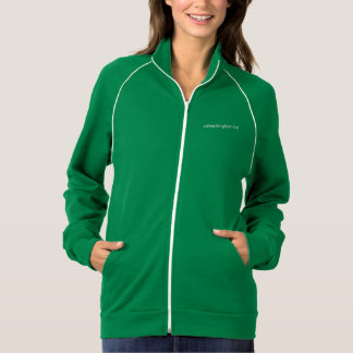Women's Jacket with Piping - Green