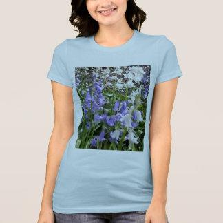 Women's Jersey T-shirt with 2 Bluebell Photos