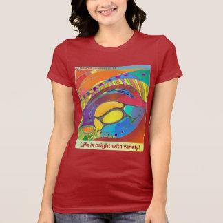 Women's Jersey T-shirt with Organic Art & Text