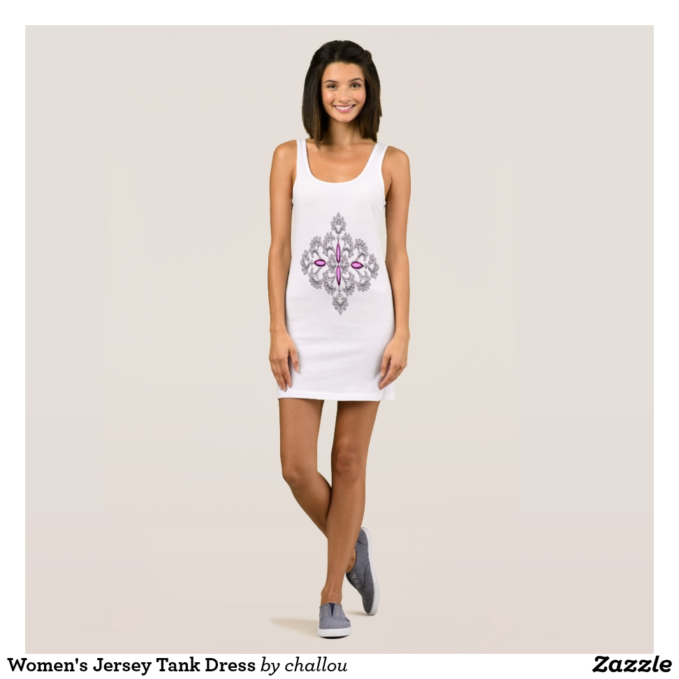 Women's Jersey Tank Dress - Curve-Hugging Women's Fashion