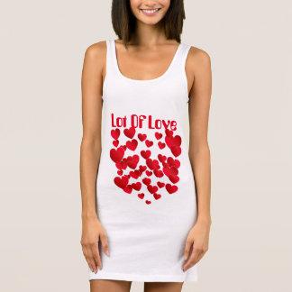 Women's Jersey Tank Dress White, Lot Of Love