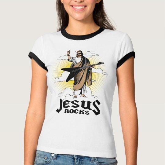 Women's Jesus Rocks Shirt