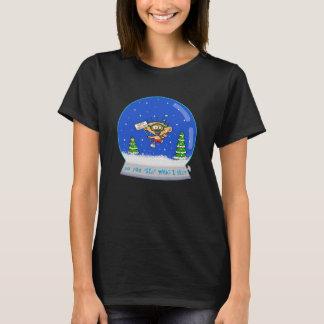 """Women's """"Jimmy in Snowglobe"""" Christmas T-Shirt"""