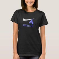 Womens Just Beat It Gynecologic Cancer T-shirt