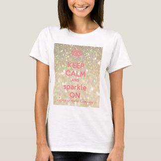 Women's KEEP CALM & SPARKLE t-shirt