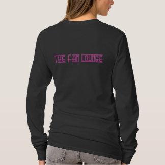 Women's L/S basic Lounger Tee   black/pink