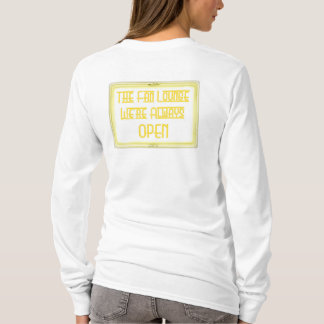 Womens L/S Fan Lounge Logo Neon Yellow T-Shirt
