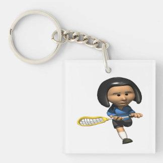 Womens Lacrosse Keychain