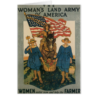 Women's Land Army Card