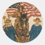 Women's Land Army Classic Round Sticker
