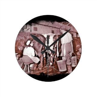 Women's Land Army DAIRY Round Clock
