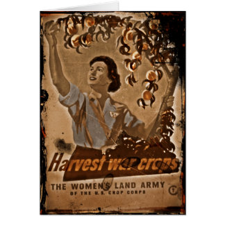 Women's Land Army Harvesting Card