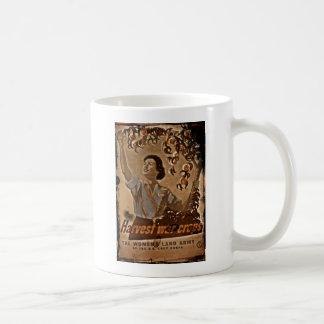 Women's Land Army Harvesting Coffee Mug