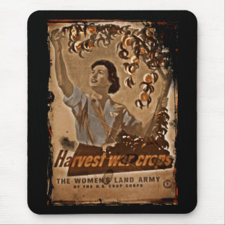 Women's Land Army Harvesting Mouse Pad