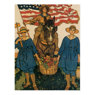 Women's Land Army Post Cards