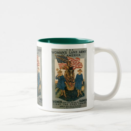 Women's Land Army Two-Tone Coffee Mug